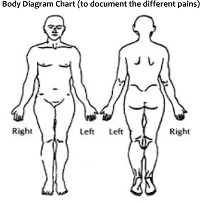 Body Diagram Chart